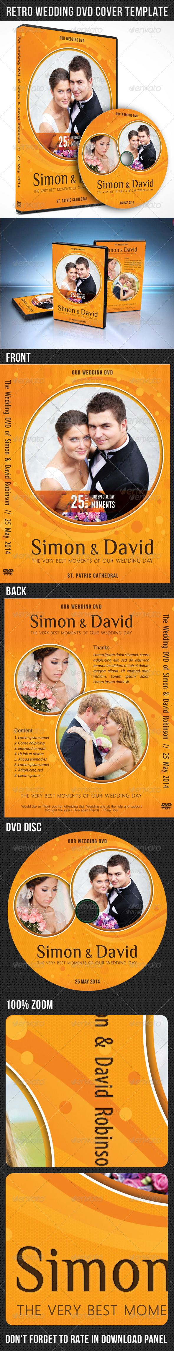 retro wedding dvd cover template wedding dvd cover and disc label