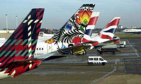 john sorrell for british airways tail fin designs