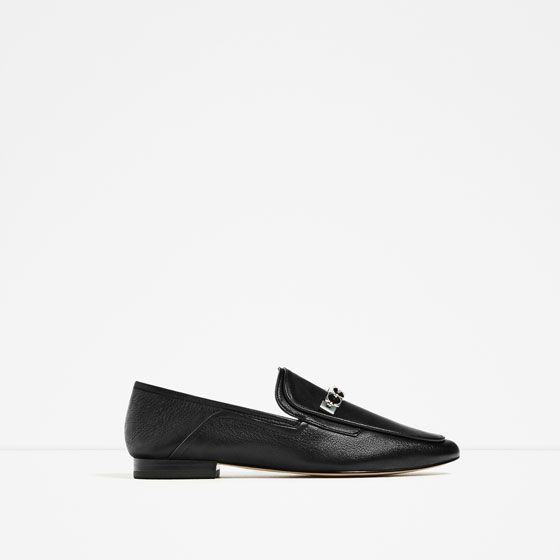 Image 2 of LEATHER LOAFERS from Zara