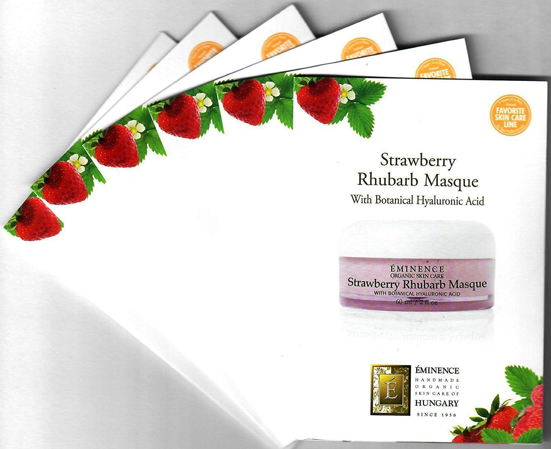 Strawberry Rhubarb Masque Card Sample Set of 6 Travel Size 6 x 3 ml