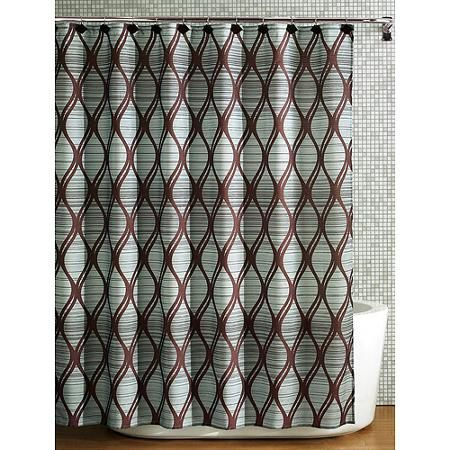 Mainstays Lynden Fabric Shower Curtain - Walmart.com | for the home ...