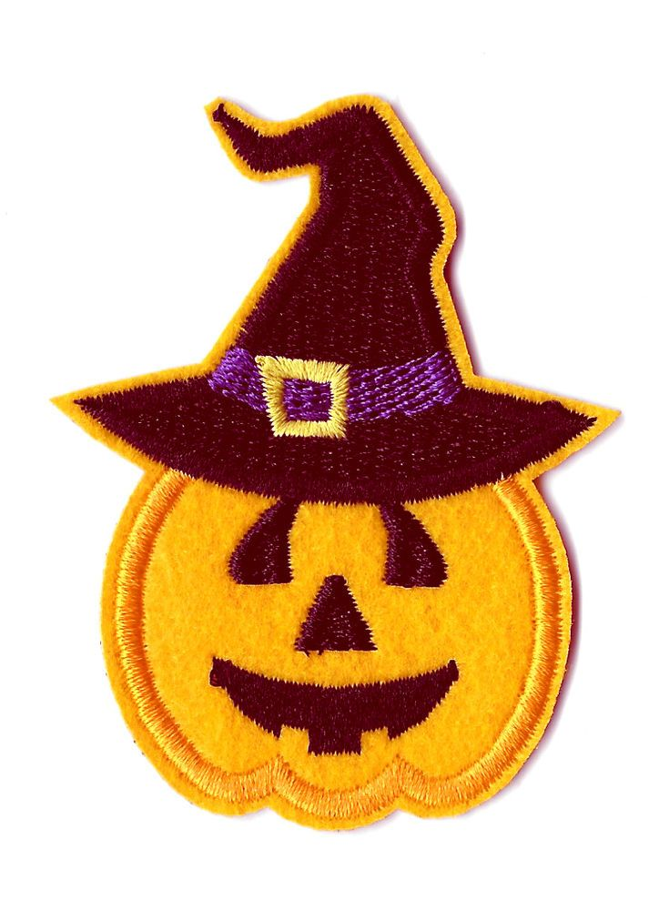 halloween jack o lantern witch embroidered iron on patch appliques patches