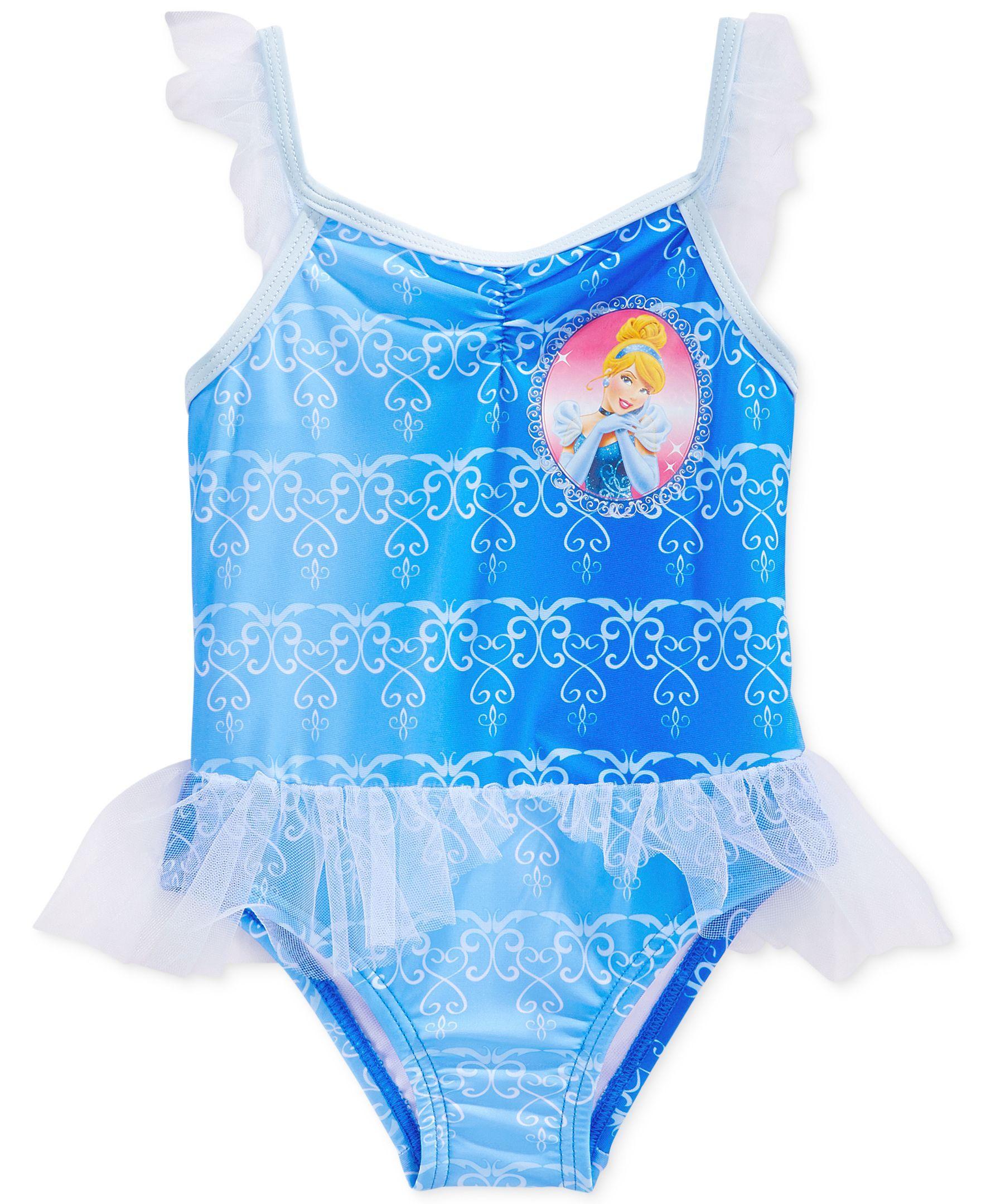 Disney Frozen Elsa Anna Blue Swimwear Bathers Swim Tutu Sizes 12-14