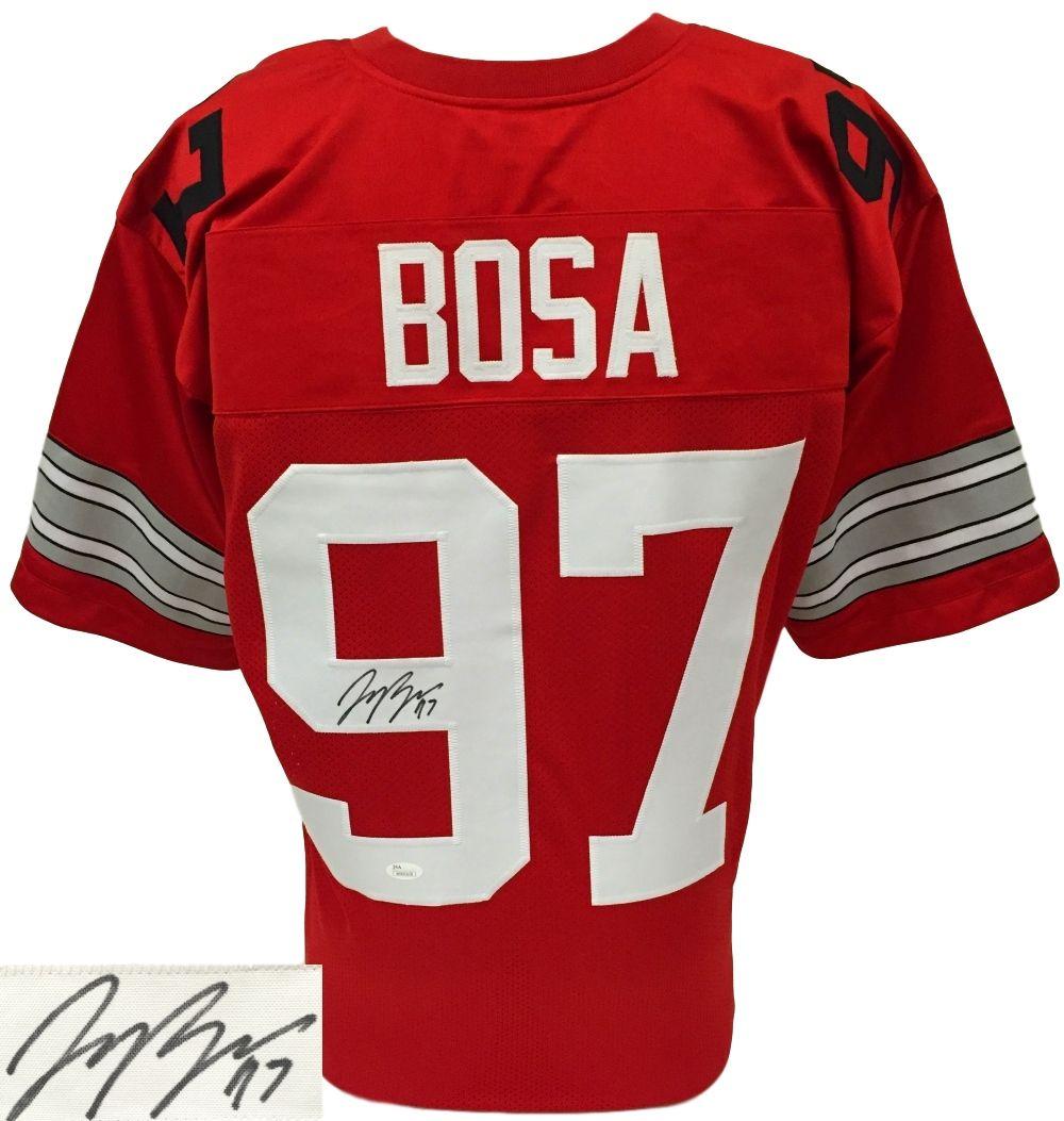 Joey bosa signedautographed custom red college football
