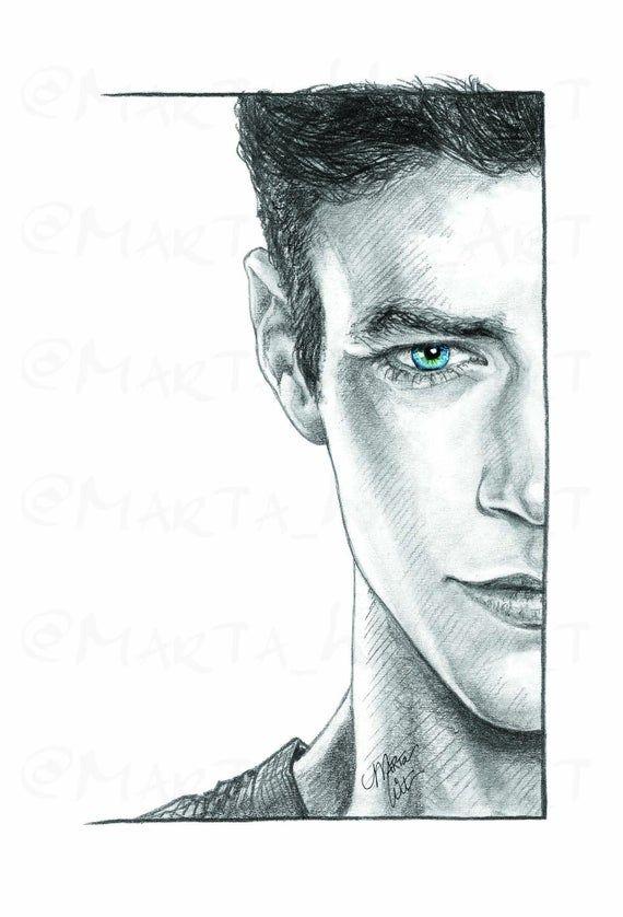 DC07B - Fan Art Print - Barry Allen | Flash drawing ...