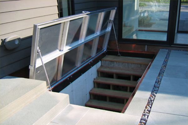 Entrance To Basement Outdoor Bulkhead Doors Low Ceiling Basement Low Ceiling
