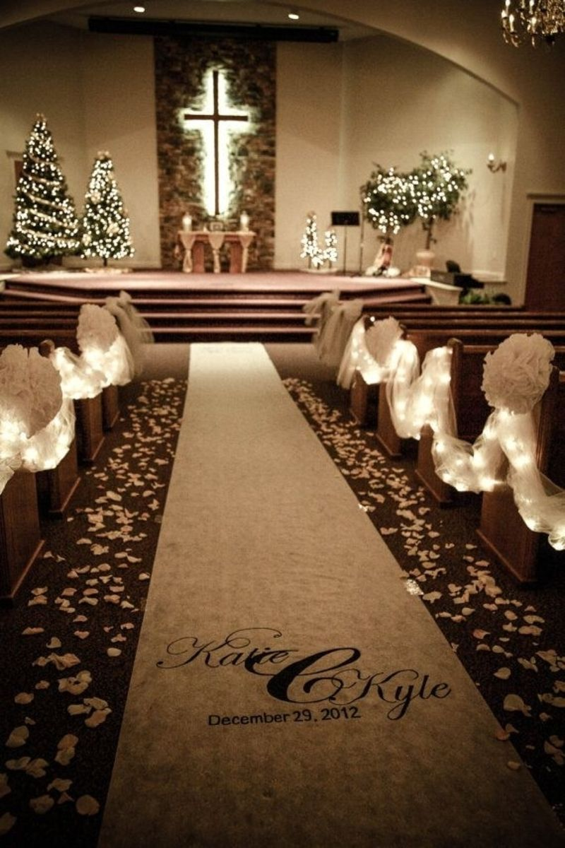 8 Fairy Lights 22 Stunning Wedding Aisle Ideas For Your Big