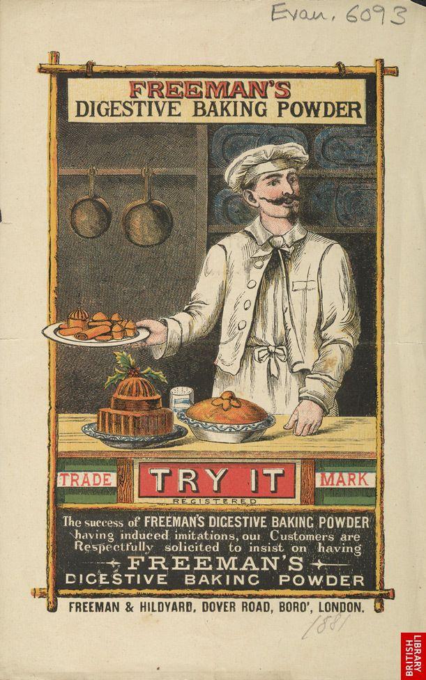 Advert For Freeman's Digestive Baking Powder