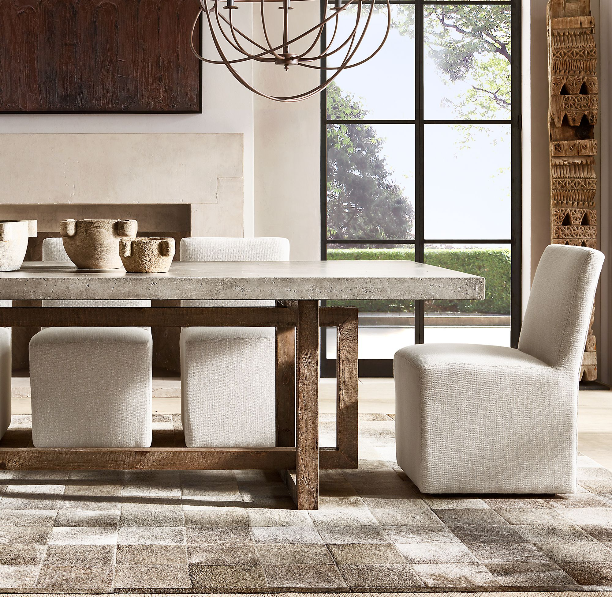 Heston Rectangular Dining Table In 2020 Restoration Hardware Dining Room Stone Dining Table Dining Table Chairs #stone #living #room #tables