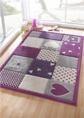 tapis rose et violet chambre enfant et bébé décoration protection ...