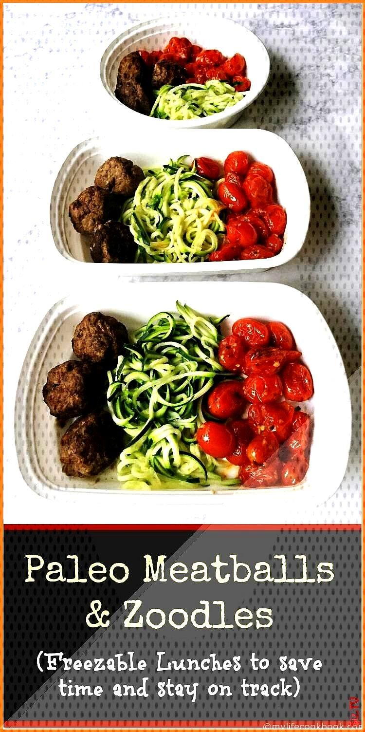 Meatballs with Zoodles Freezable Healthy Lunches Paleo Meatballs with Zoodles Freezable Healthy Lun