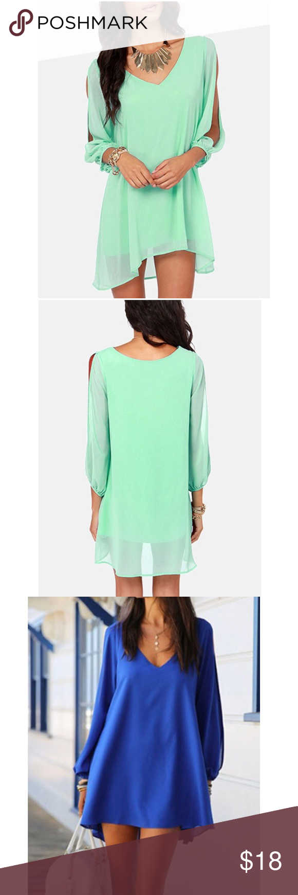 Gorgeous dress comes in mont green blue red black blush pink