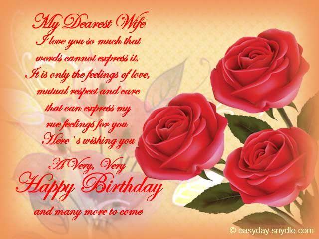 Happy Birthday Wishes For Wife Birthday Wishes For Wife Romantic Birthday Wishes Wife Birthday Quotes