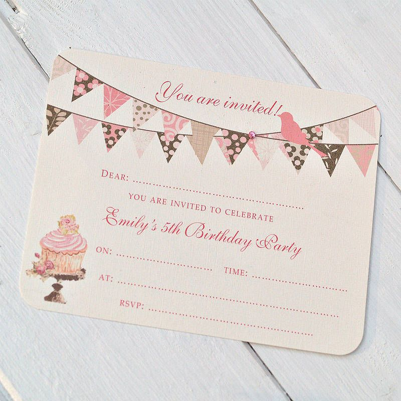 banner invitations | Paper Doll Party | Pinterest | Bunting ...