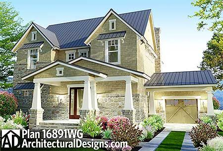 could change the garage to a drive through carport - House Plans Drive Through Carport