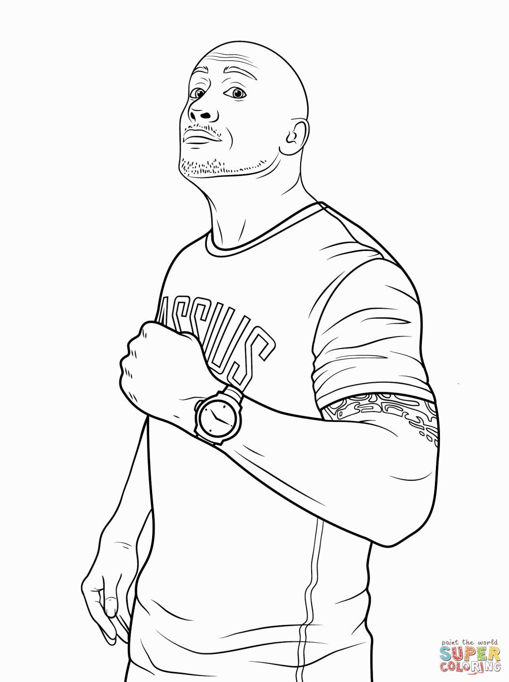 Pin By Faycal Blh On Wwe Cartoon Wwe Coloring Pages Coloring Pages Wwe