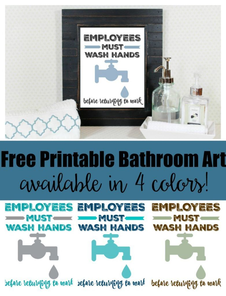 image relating to Employees Must Wash Hands Sign Free Printable known as Workforce Ought to Clean Palms Absolutely free Rest room Artwork Printable