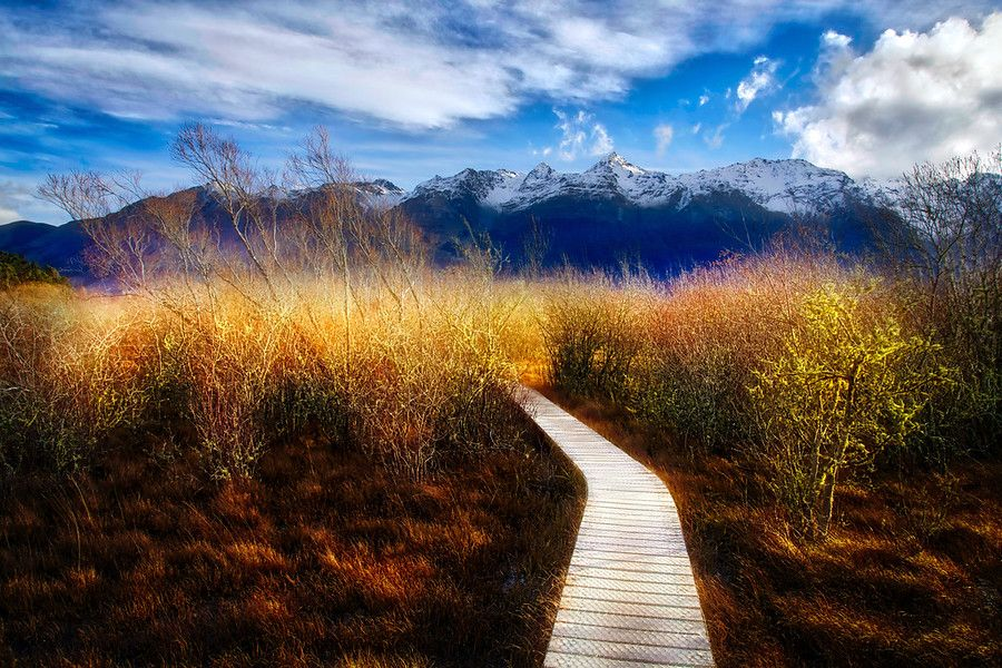 I've been to this amazing pathway a few times and each time it's quite magical. This is from my most recent trip down there with my friend Mark. He's been great because things have been so busy lately, I haven't had a chance to get out and shoot so much! - Glenorchy, New Zealand - Photo from #treyratcliff Trey Ratcliff at http://www.StuckInCustoms.com