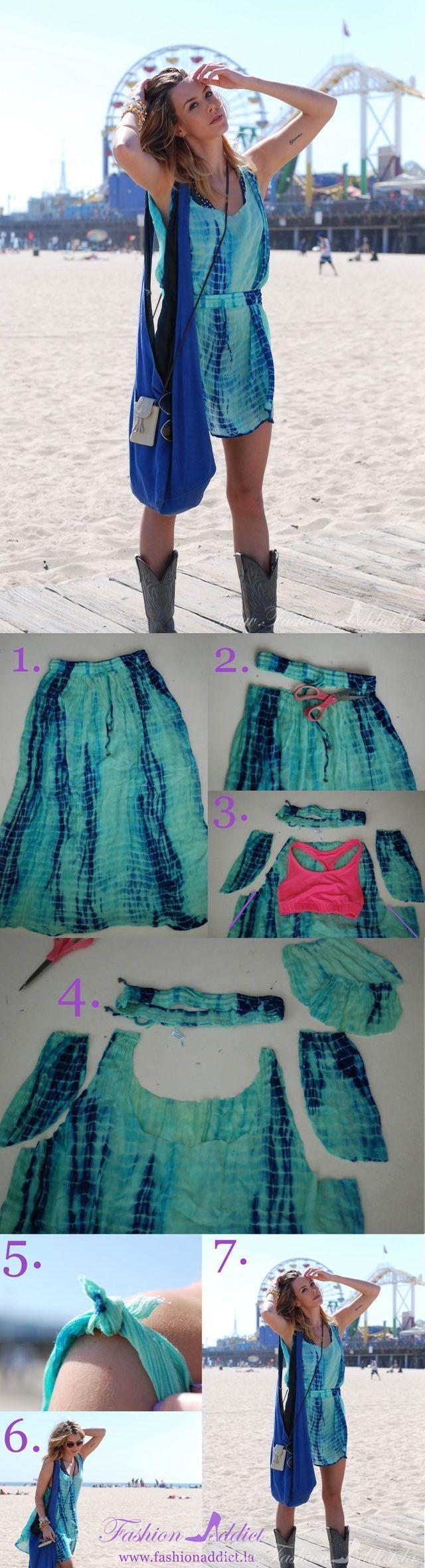No Sew Slip Dress – DIY. Not a tshirt recon, but whatevs.