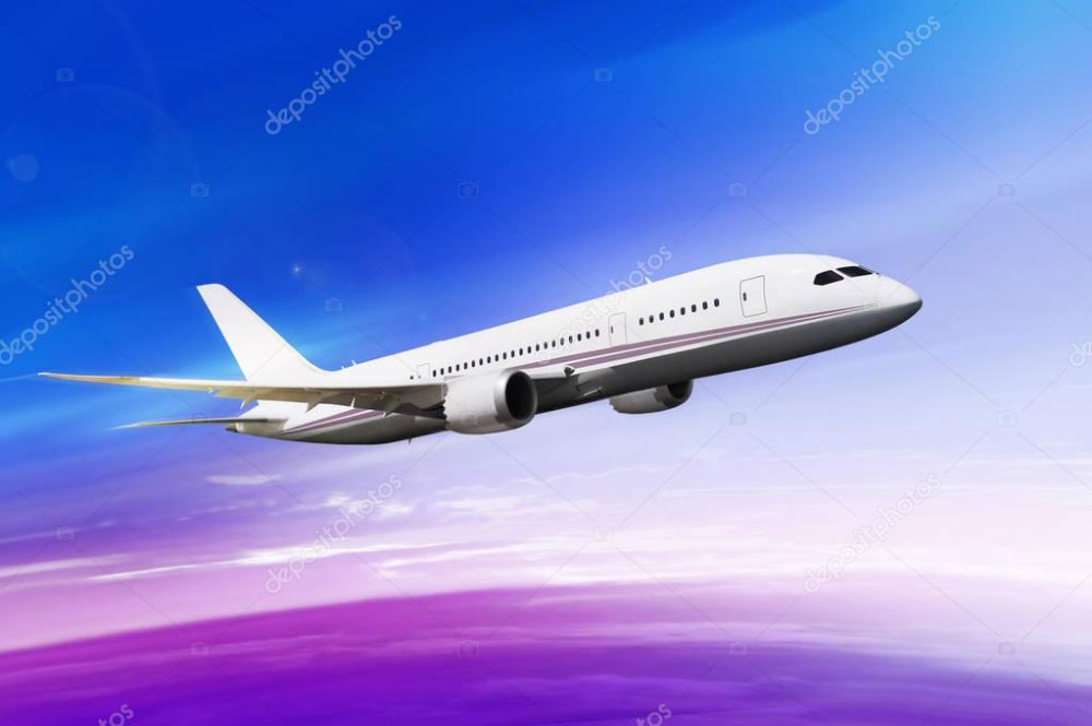 Download Flying Plane In Beautiful Sky Stock Image Fly Plane Beautiful Sky Sky