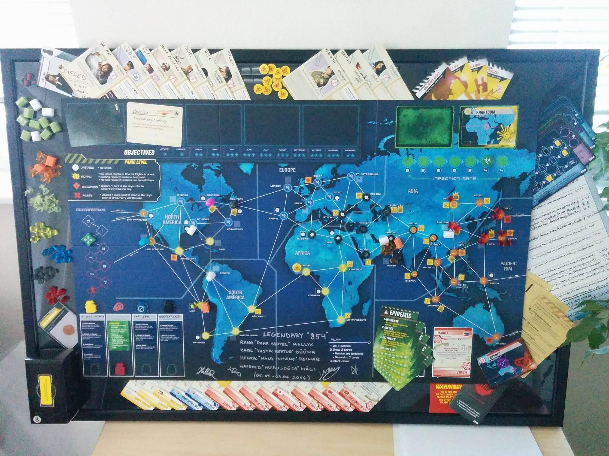 Pandemic Legacy framing Board games, Frame, Diy