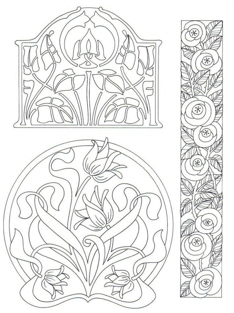 The Ornamental Art Nouveau In The Interior Architecture And Furnishings Art Nouveau Pattern Template Template In 2020 Jugendstil Muster Jugendstil Jugendstil Design