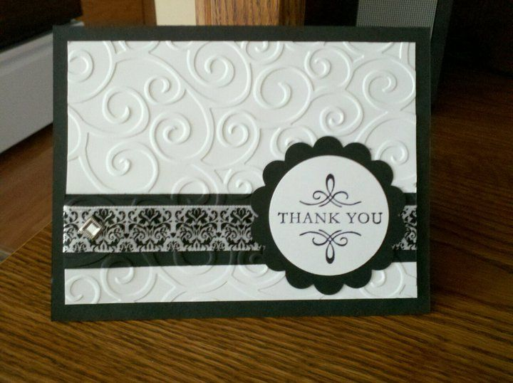 Elegant Thank You Embossed Cards Greeting Cards Handmade Simple Cards