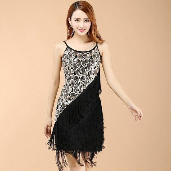 b013fa86dd199 Women Sexy Hot Slim 1920S Sequin Paisley Art Deco Fringle Tassel ...