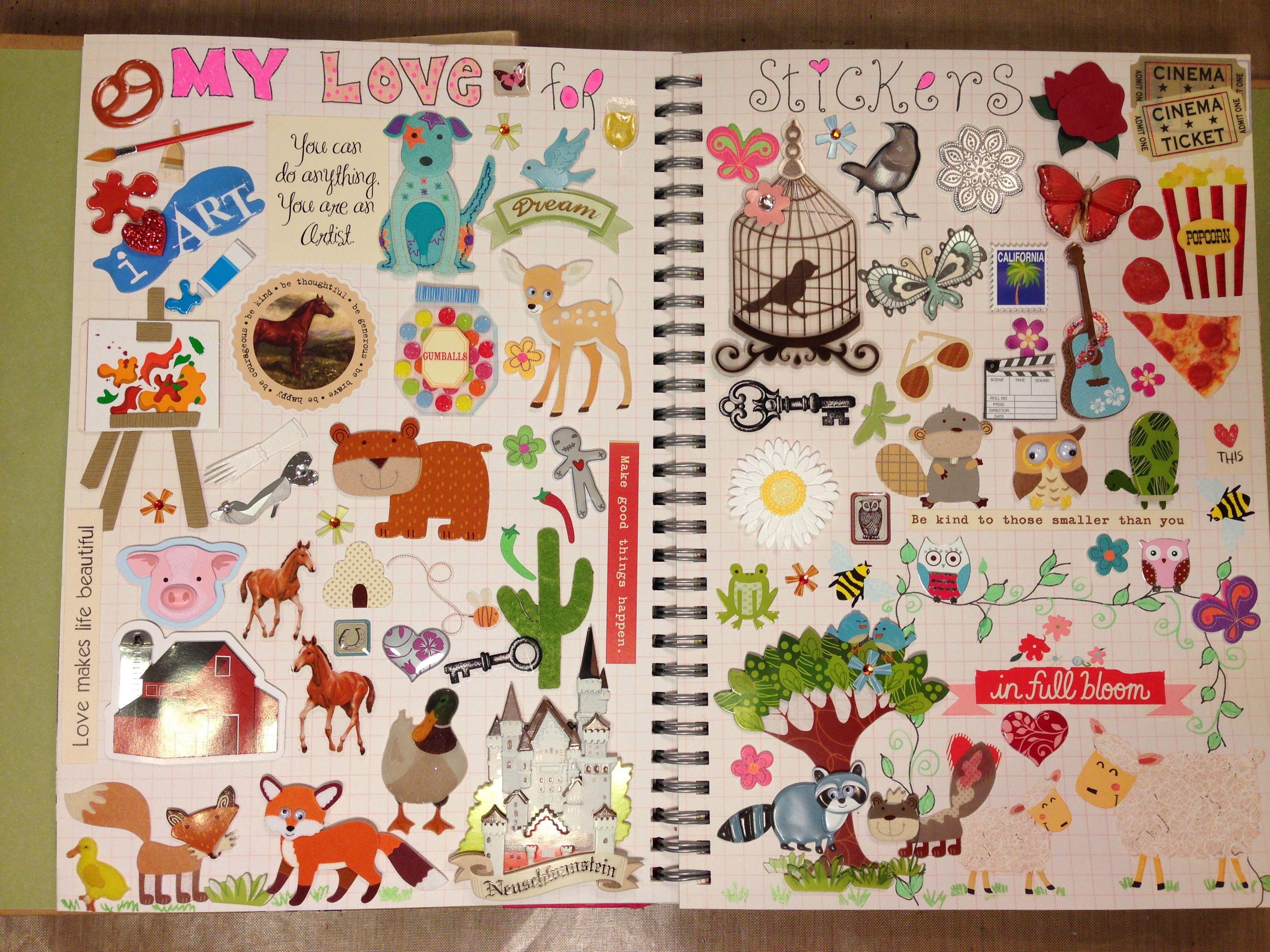 Scrapbook notebook ideas - Scrapbook Paper Marions Smash Book Sticker Page Fun Good Idea To Dedicate Page
