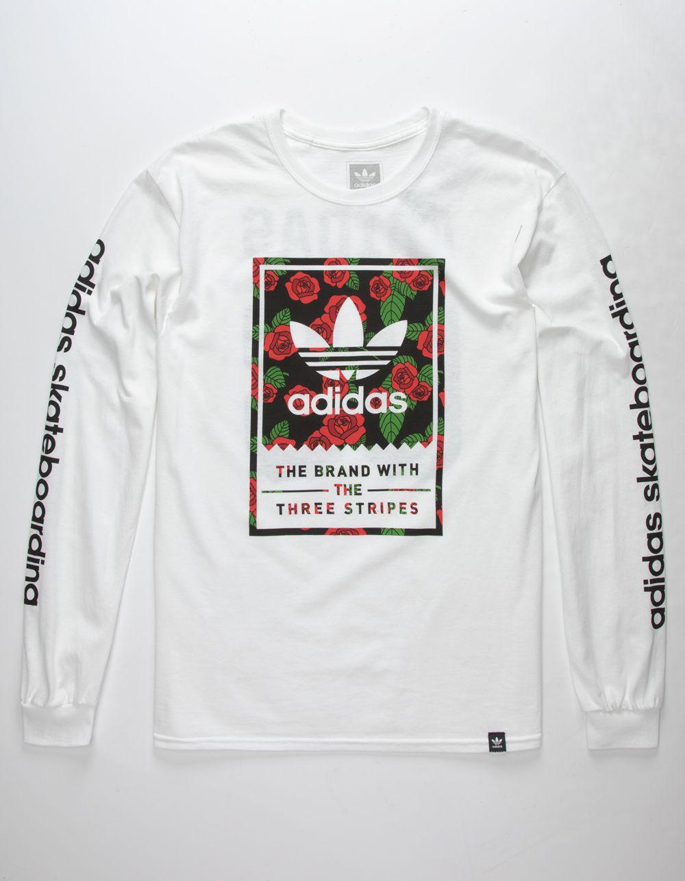 Adidas Classic Print Rose Mens T Shirt White 329395150 Mens Tshirts Adidas Shirt Mens Addidas Shirts [ 1286 x 1000 Pixel ]