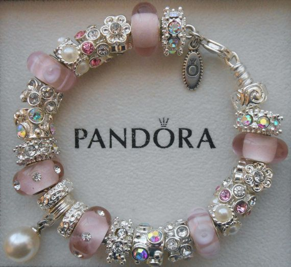 Authentic Pandora Bracelet With Pandora Hinged By