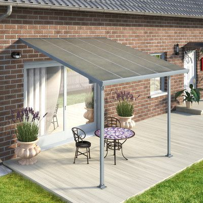 Feria 10 Ft W X 10 Ft D Plastic Standard Patio Awning Patio Design Patio Pergola Patio