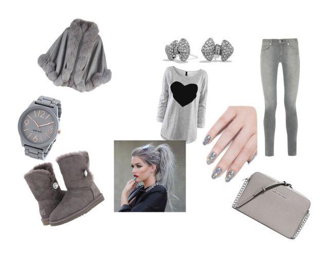 """gray is here"" by niahinqc ❤ liked on Polyvore featuring rag & bone, Harrods, UGG Australia, MICHAEL Michael Kors, Nine West, David Yurman, ncLA, women's clothing, women and female"