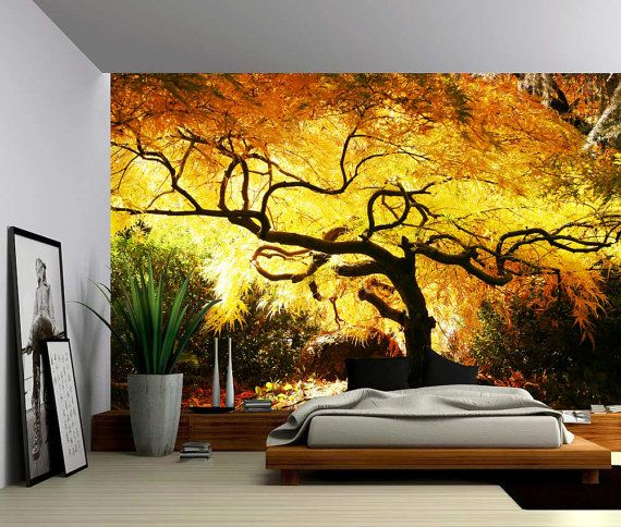 Maple Tree - Large Wall Mural, Self-adhesive Vinyl Wallpaper, Peel ...