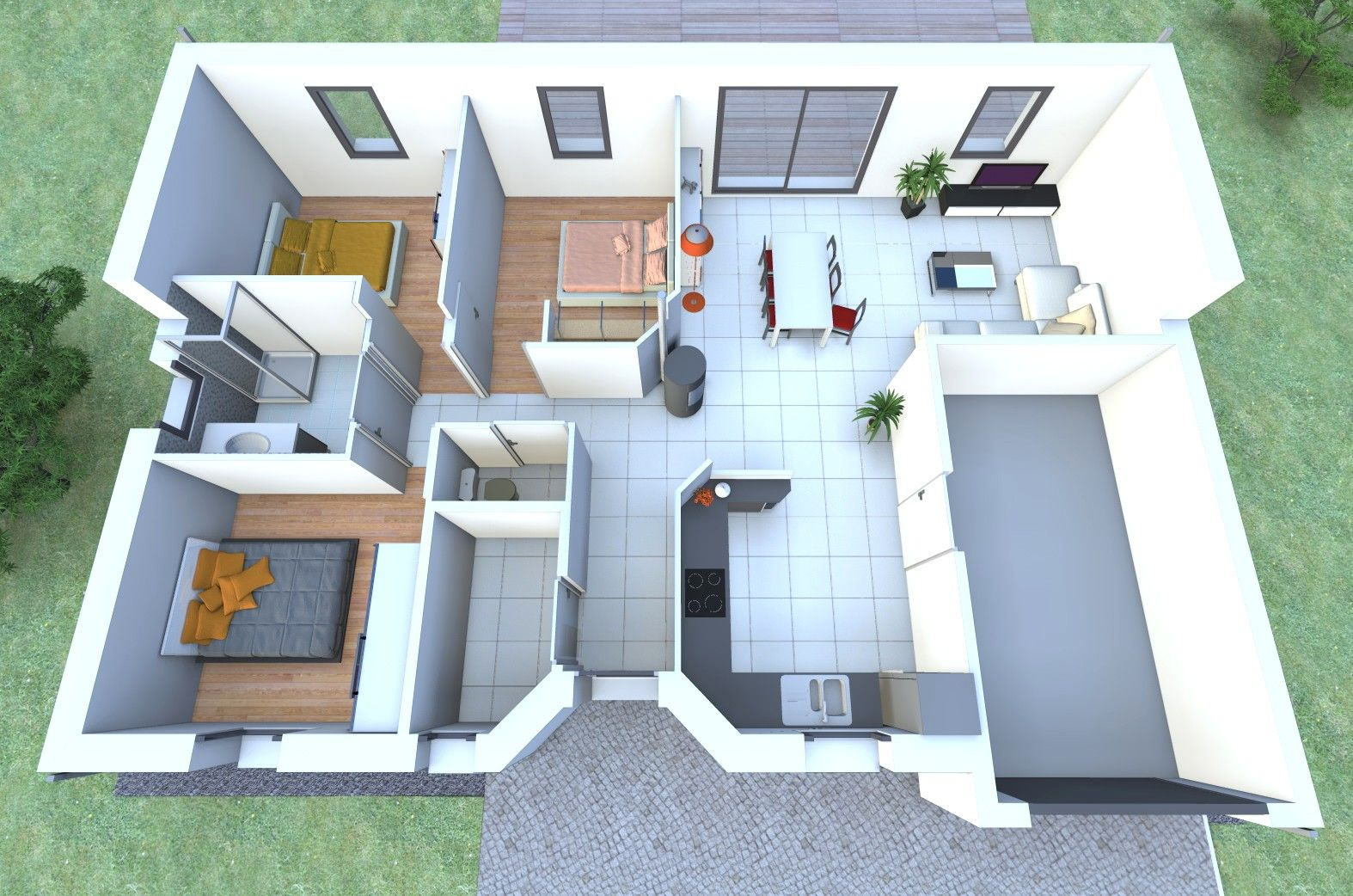 Modele Maison Idesia 3d Modele Maison Plan Maison 3d Maison 3