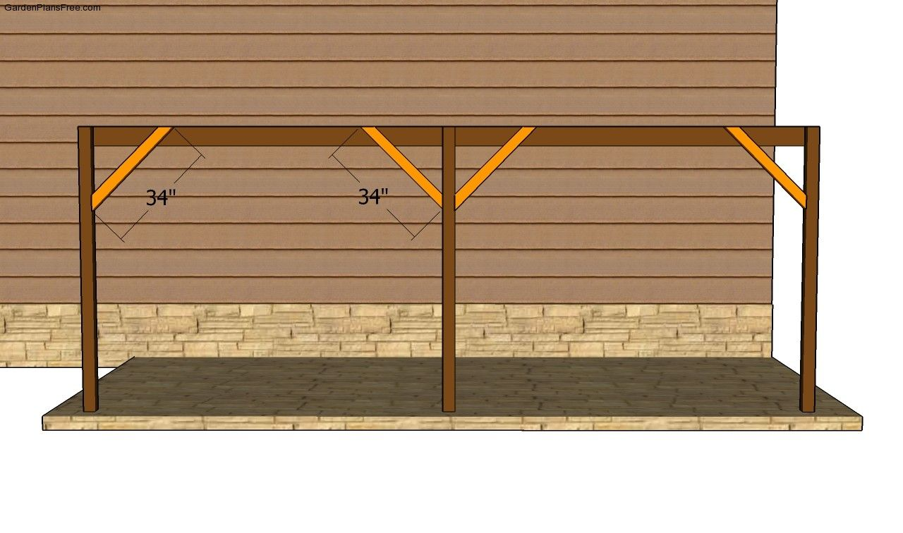 Attached Carport Plans (With images) Carport plans