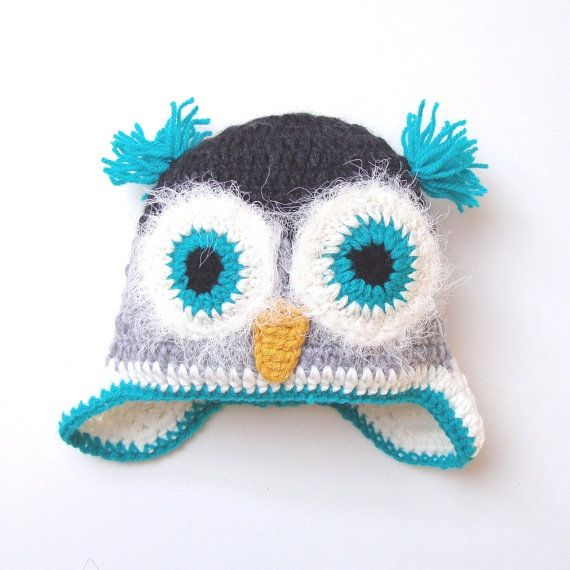 Crochet Baby Owl Hat Baby Crochet Boy Owl Hat Baby by PeppyBaby ...
