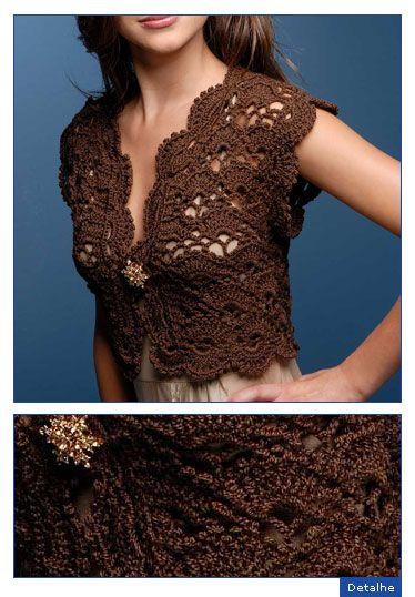 Chocolate Bolero Free Crochet Graph Pattern Crochet Pinterest