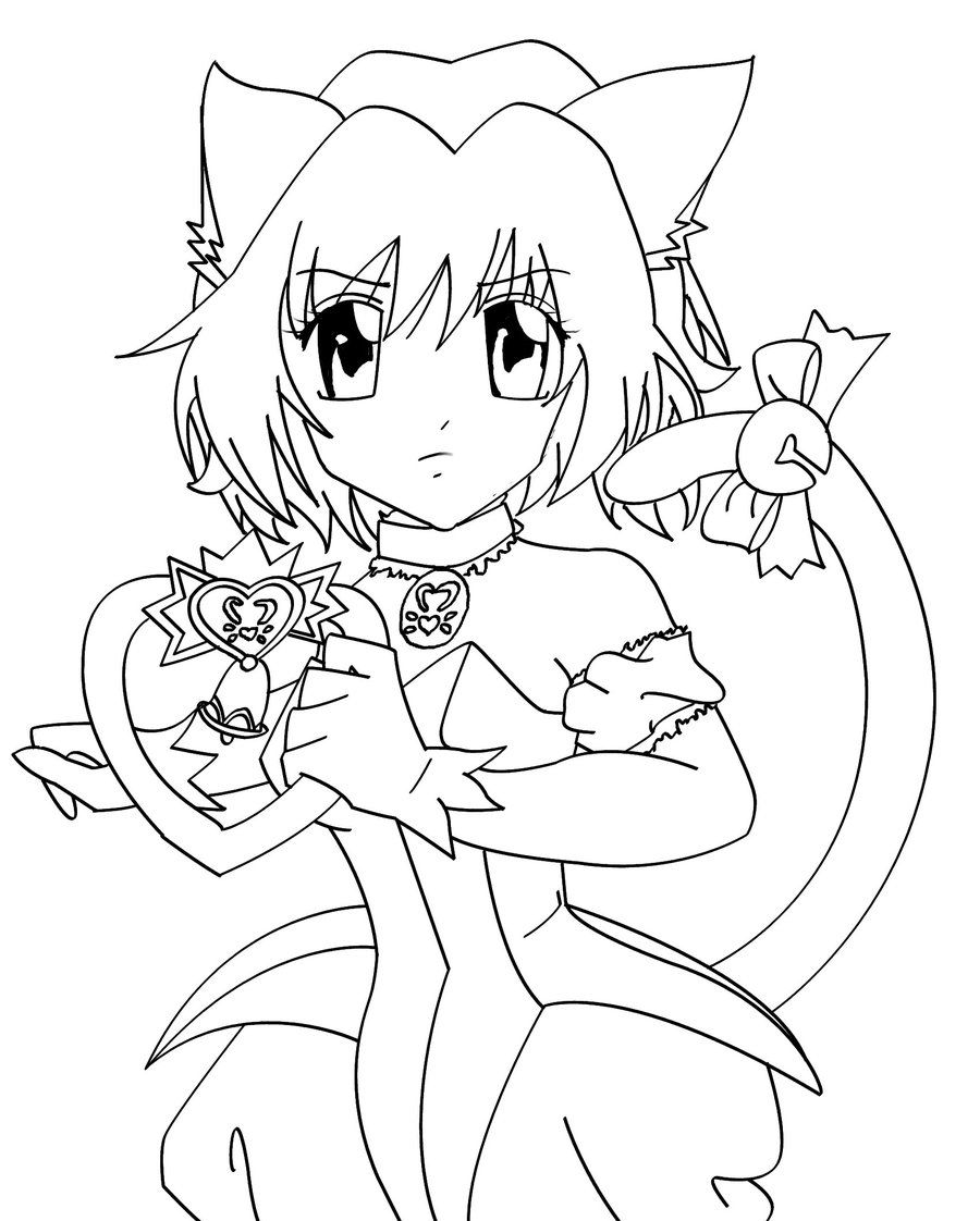 mew mew ichigo is surprised coloring pages for kids printable mew mew coloring pages for kids
