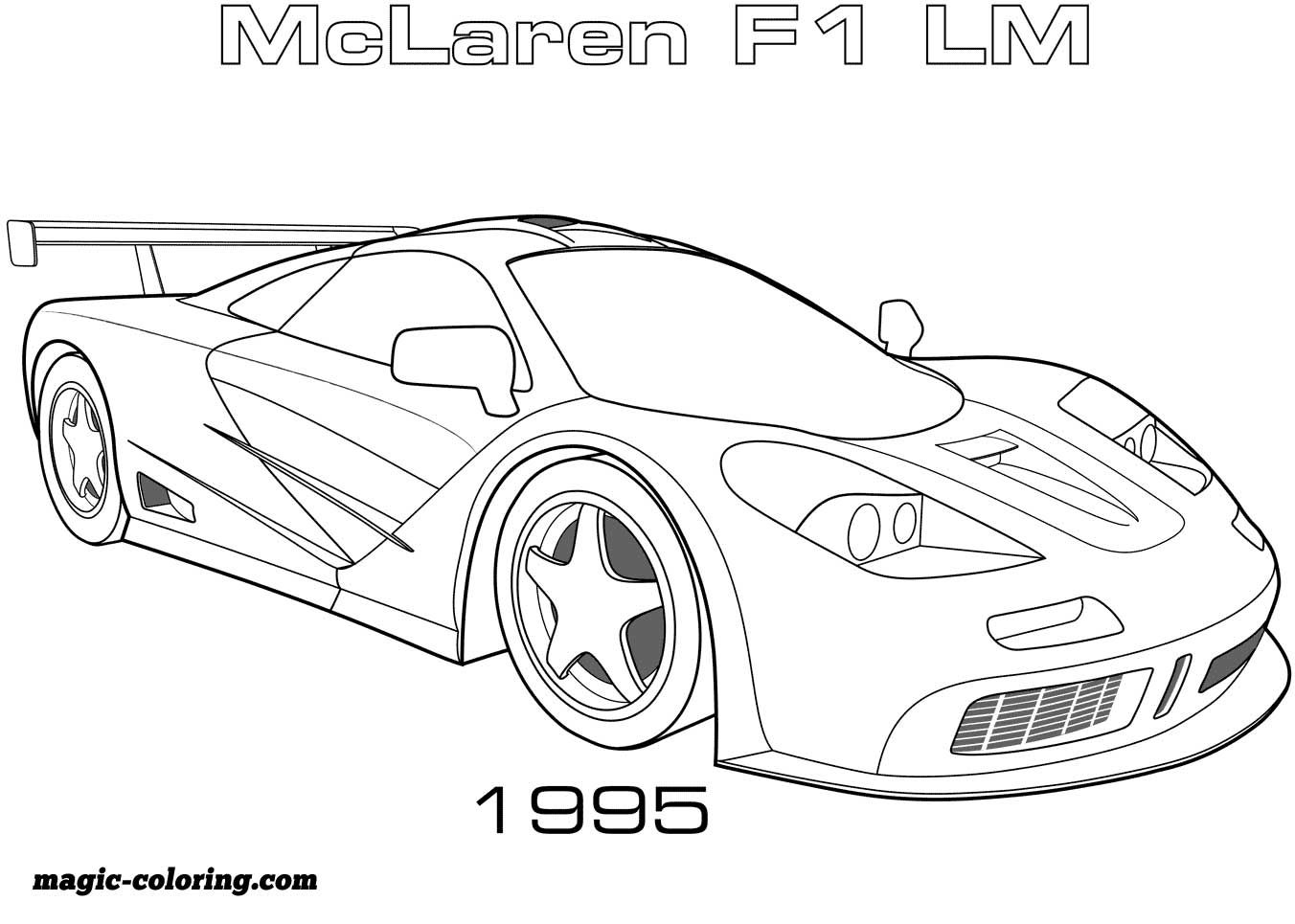 Transportation coloring pages Race car coloring pages