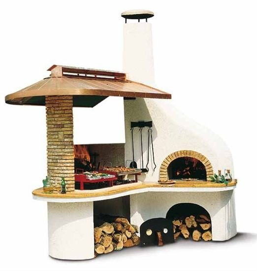 Der Palazzetti Nuovo Vulcano Ist Ein Luxus Gartenkamin Der Extraklasse Der Grillkamin Wird Erganzt Durch Einen Holz Backofen De Grillkamin Kamin Holzbackofen