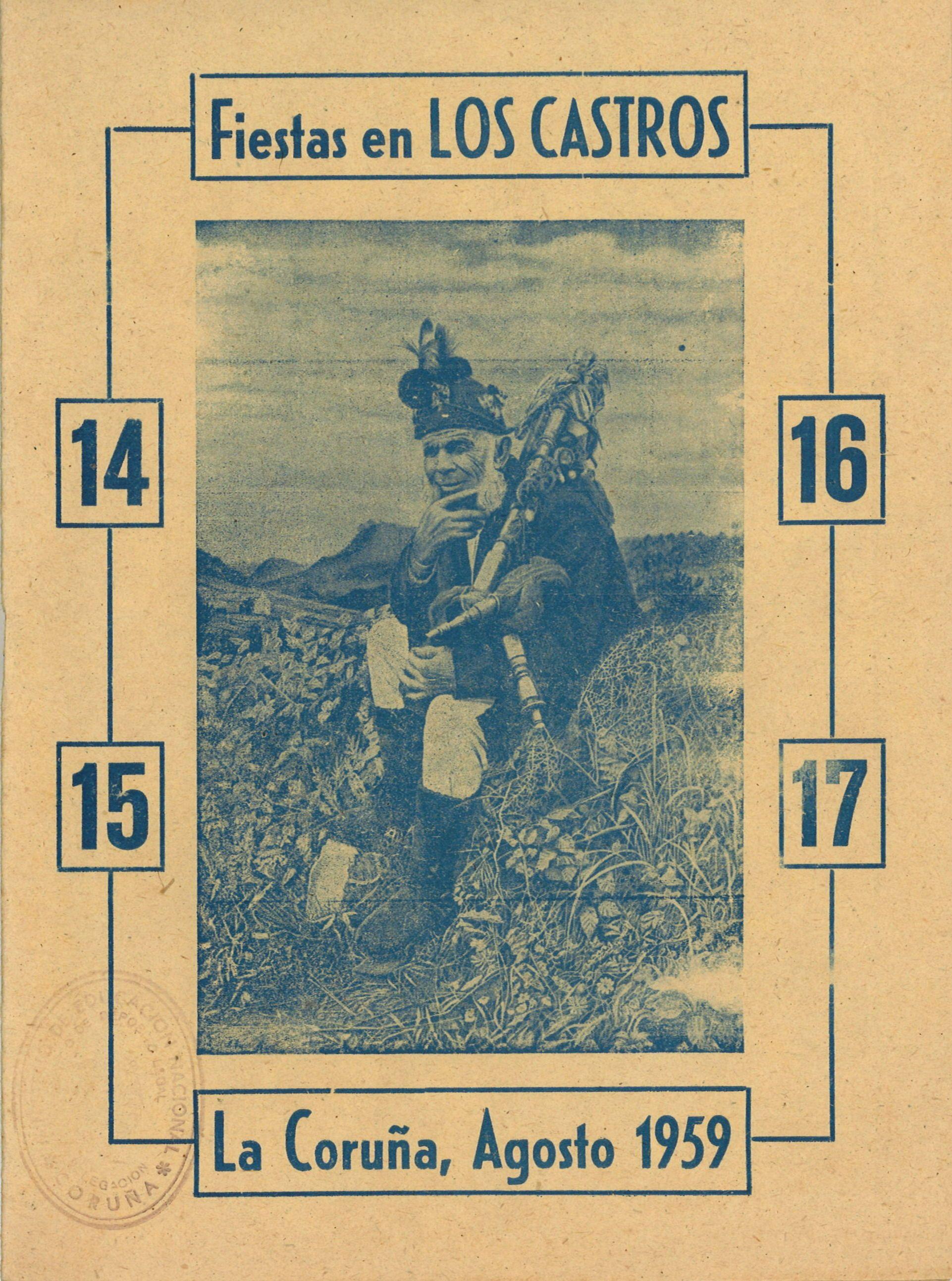 Fiestas En Los Castros 14 15 16 17 La Coruña Agosto 1959 Programa A Coruña Carteles De Fiesta Fotos Antiguas