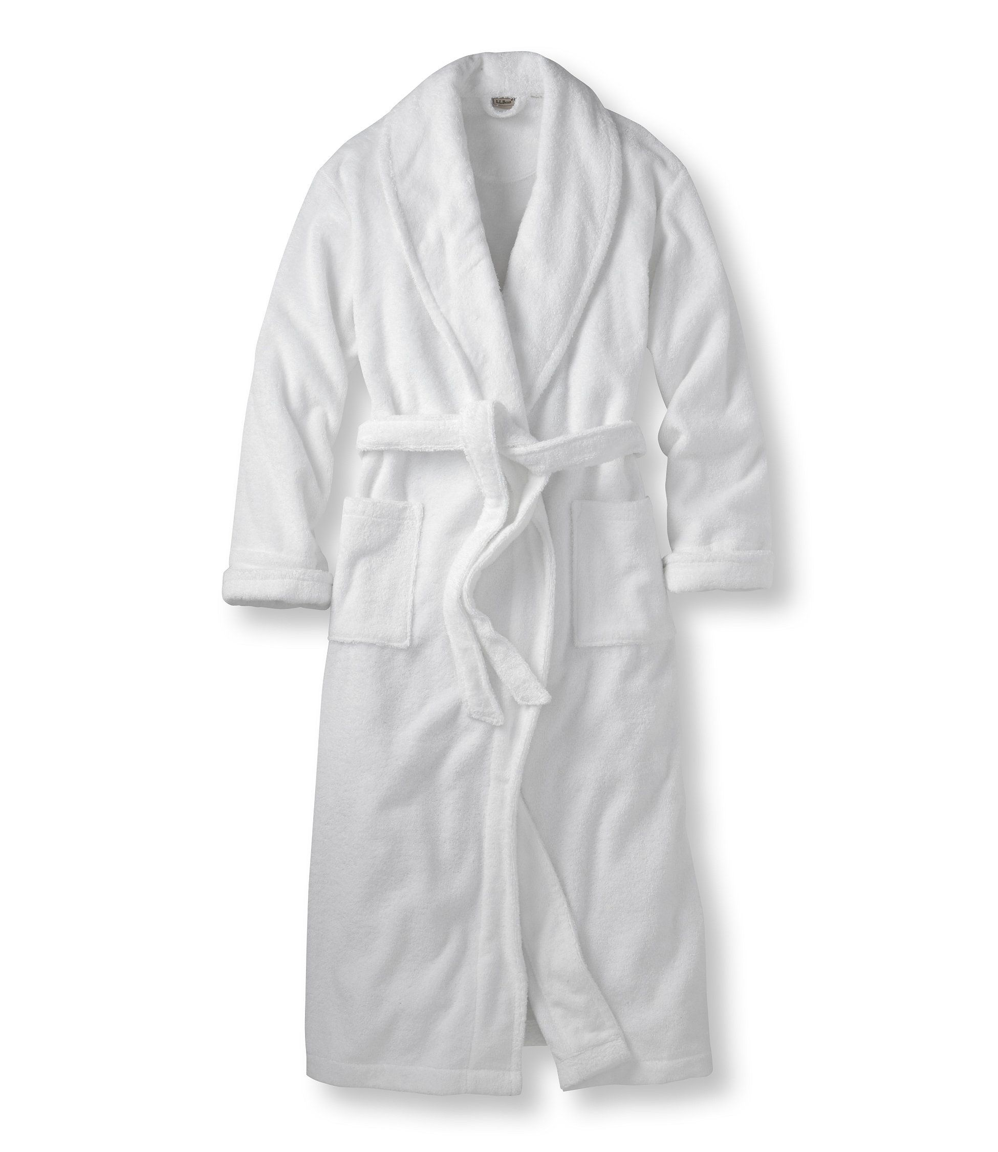 Terry Cloth Robe in white. Simple. Terry Cloth Bathrobes