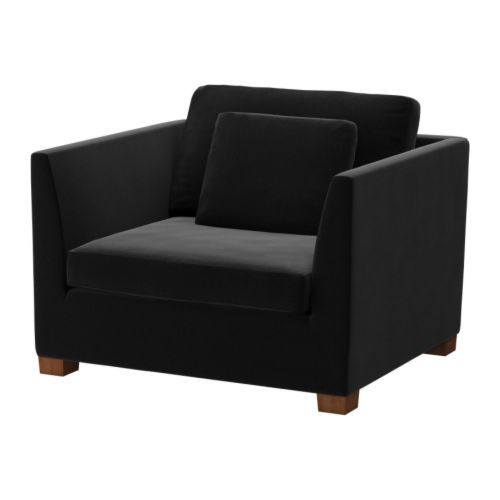 ikea stockholm 1 5 seat armchair sandbacka black 699. Black Bedroom Furniture Sets. Home Design Ideas