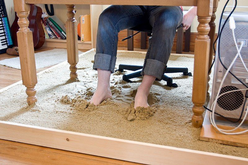 Literalmente trabalhando com o pé na areia...relaxante:)