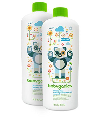 Babyganics Sanitizer Fragrance Packaging Alcohol Foaming