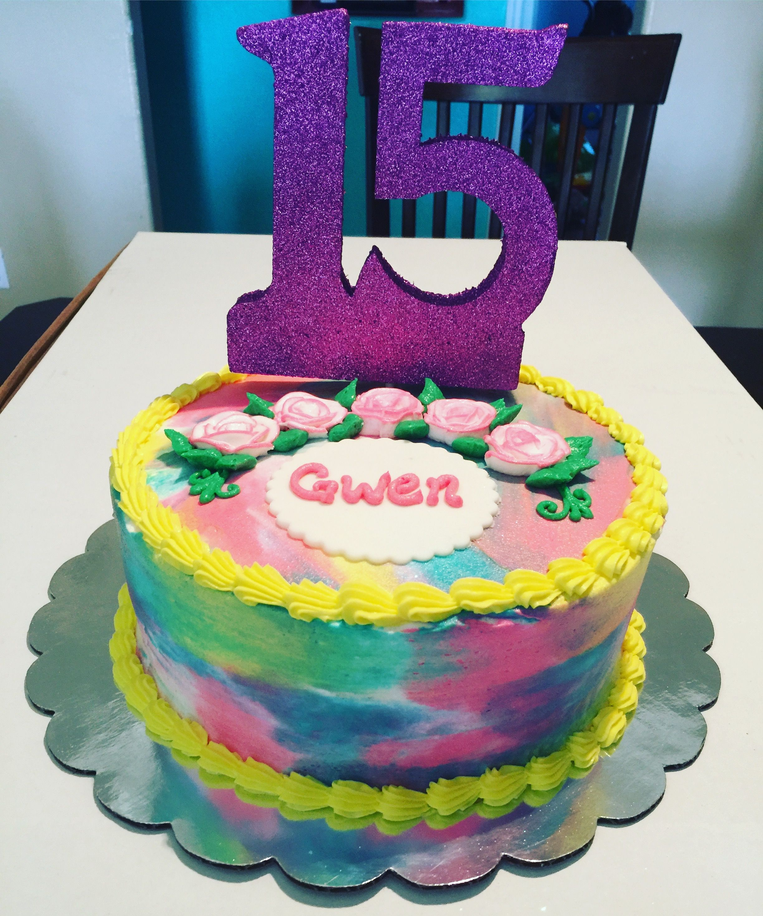 15 Birthday Cake Ideas Girl : birthday, ideas, Colorful, Buttercream, Frosted, Sweet, Birthday, Cakes,, Girls