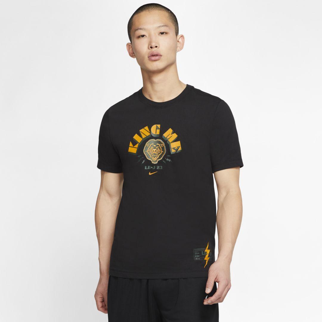 """Photo of Nike Dri-FIT LeBron """"King Me"""" Men's Basketball T-Shirt (Black)"""