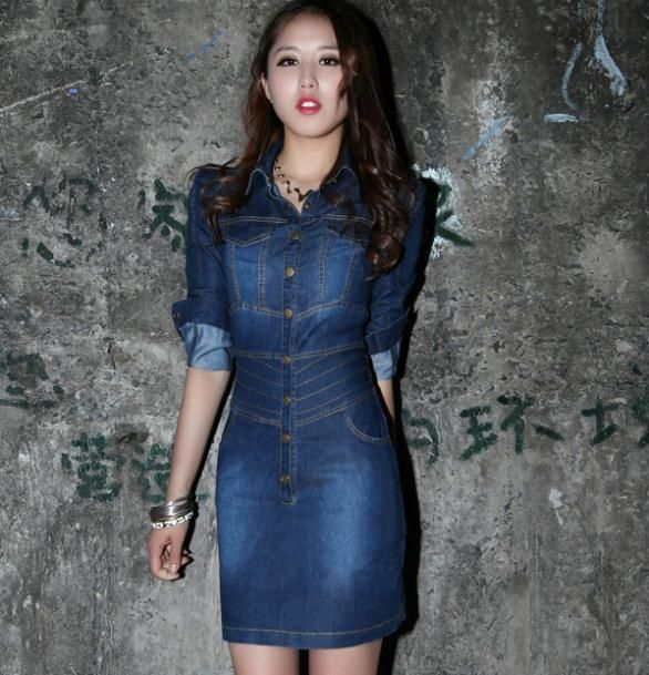 Cheap dress fighting, Buy Quality dresses christmas directly from China dress photograph Suppliers:                                       2014 spring new women burst models Slim casual sweet dress jeans
