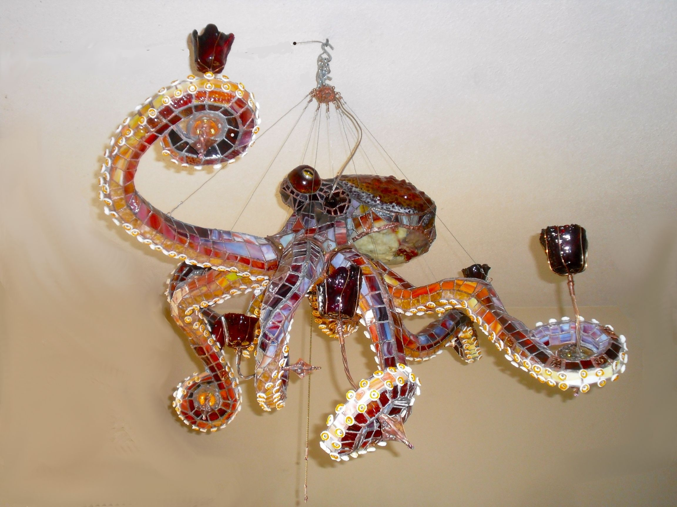 oblong headed style octopus chandelier let there be lamp